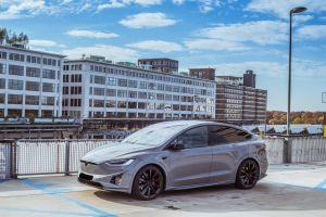 Portfolio Tesla Model X Carwrap Eindhoven Nardo Grey