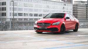 Mercedes-Benz Carwrap Avery Satin Carmine Red Eindhoven