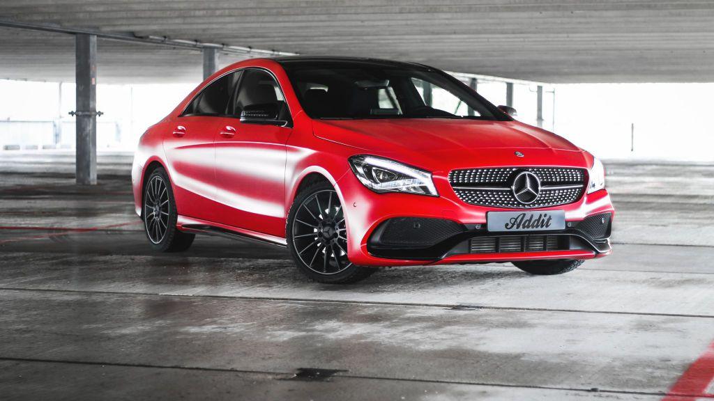 Potfolio Mercedes Benz CLA Avery Satin Carmine Red Carwrap Eindhoven