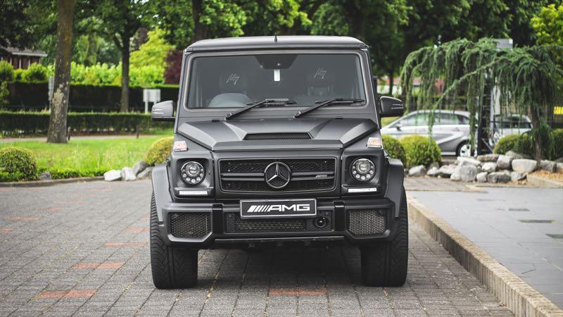carwrap Mercedes G-Klasse Mansory Mat Zwart