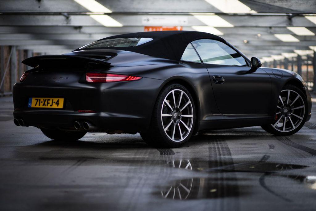 Carwrap Porsche 911 Avery Satin Black