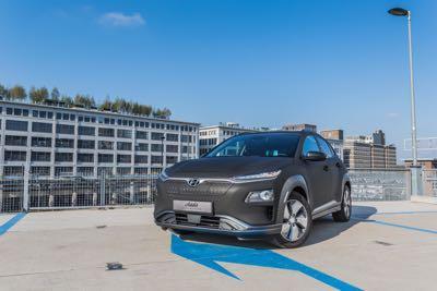 Huyndai Kona Electric Carwrap 3M Matrix Black