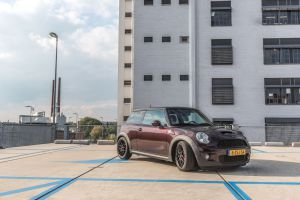 Mini Cooper S 3M Gloss Black Rose Carwrap Eindhoven