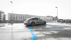 Tesla Model S Carwrap Eindhoven 3M Avery