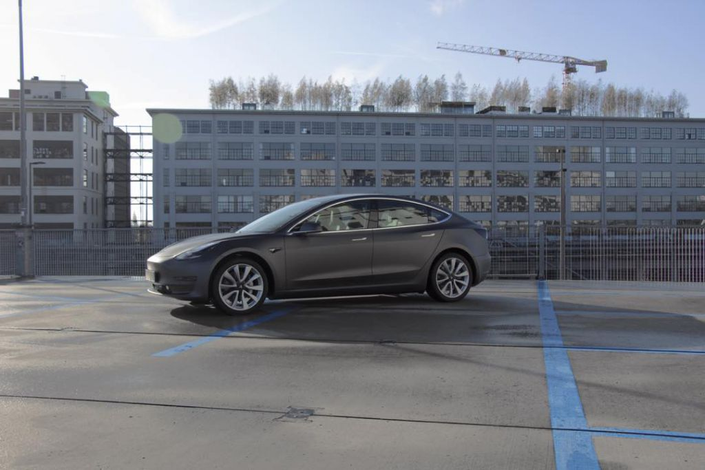 Tesla Model 3 Matte Dark Grey Eindhoven