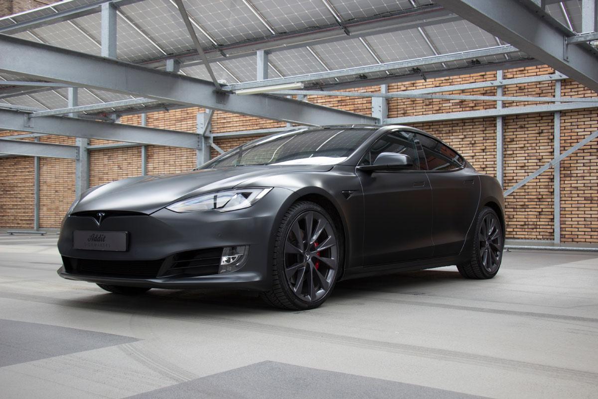 Carwrap Tesla Model S p100d