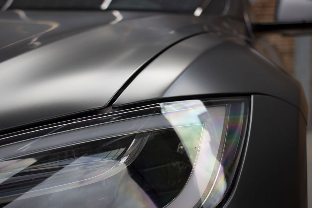 Tesla Model S Carwrap Avery Satin Metallic Black Rock Grey